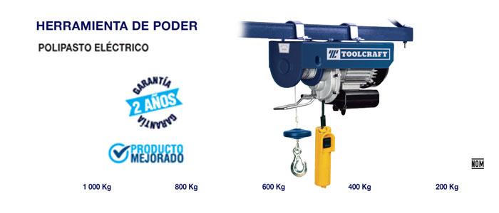 Polipastaos para carga toolcraft
